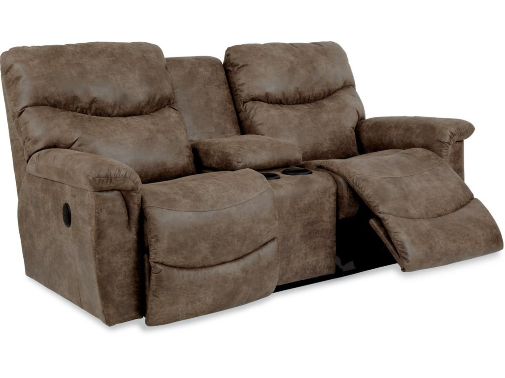 La-Z-Boy JamesLa-Z-Time® Full Reclining Loveseat w/Console