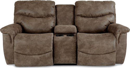 La-Z-Boy James Casual Power La-Z-Time® Full Reclining Loveseat with Middle Console