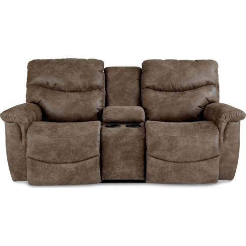 La-Z-Boy James Casual Power La-Z-Time? Full Reclining Loveseat with Middle Console
