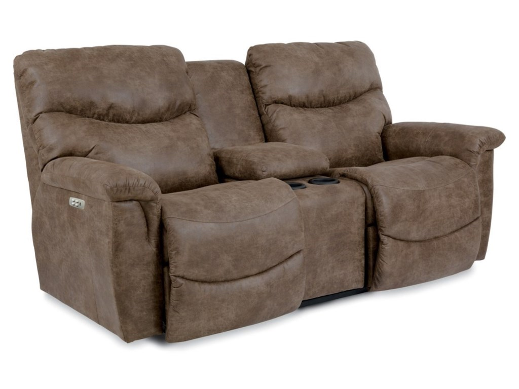 La-Z-Boy JamesPower Recl Console Loveseat w/ Pwr Head