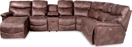 La-Z-Boy James Six Piece Power Reclining Sectional with RAS Chaise