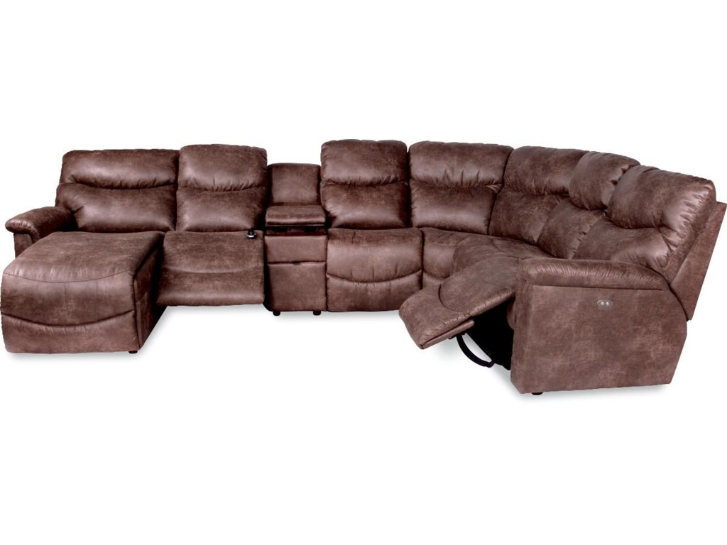 La-Z-Boy James6 Pc Power Reclining Sectional w/ RAS Chaise