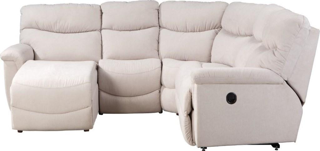 La Z Boy James Four Piece Power Reclining Sectional Sofa With Ras