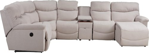 La-Z-Boy James Six Piece Power Reclining Sectional with LAS Chaise