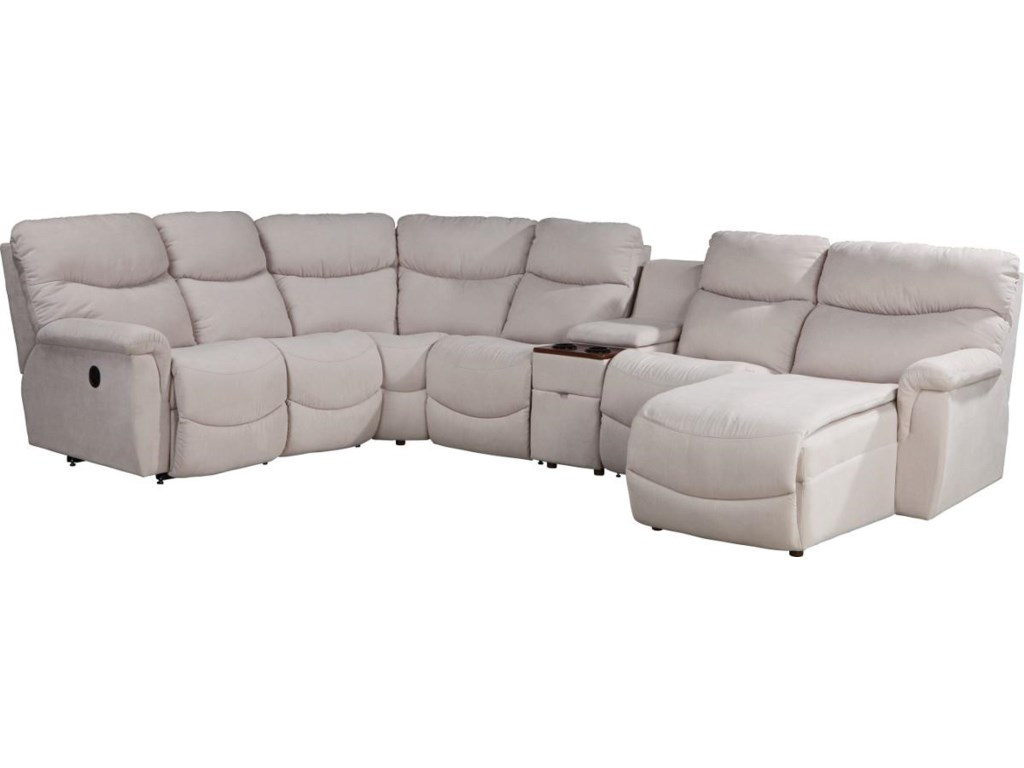 La-Z-Boy James6 Pc Pwr Recl Sectional w LAS Chaise & Head