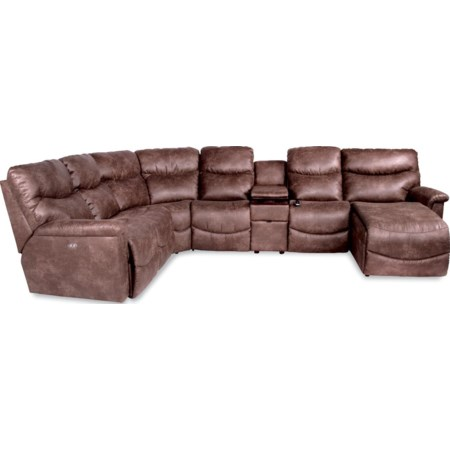 6 Pc Pwr Recl Sectional w LAS Chaise & Head