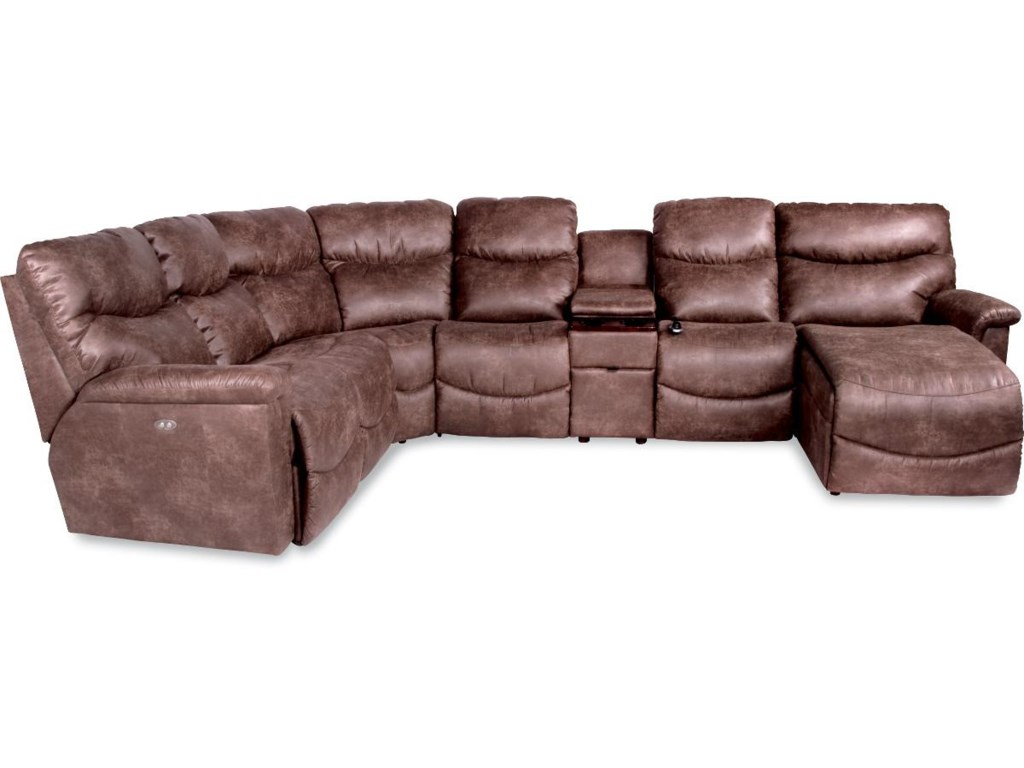 La Z Boy James6 Pc Reclining Sectional W Las Chaise