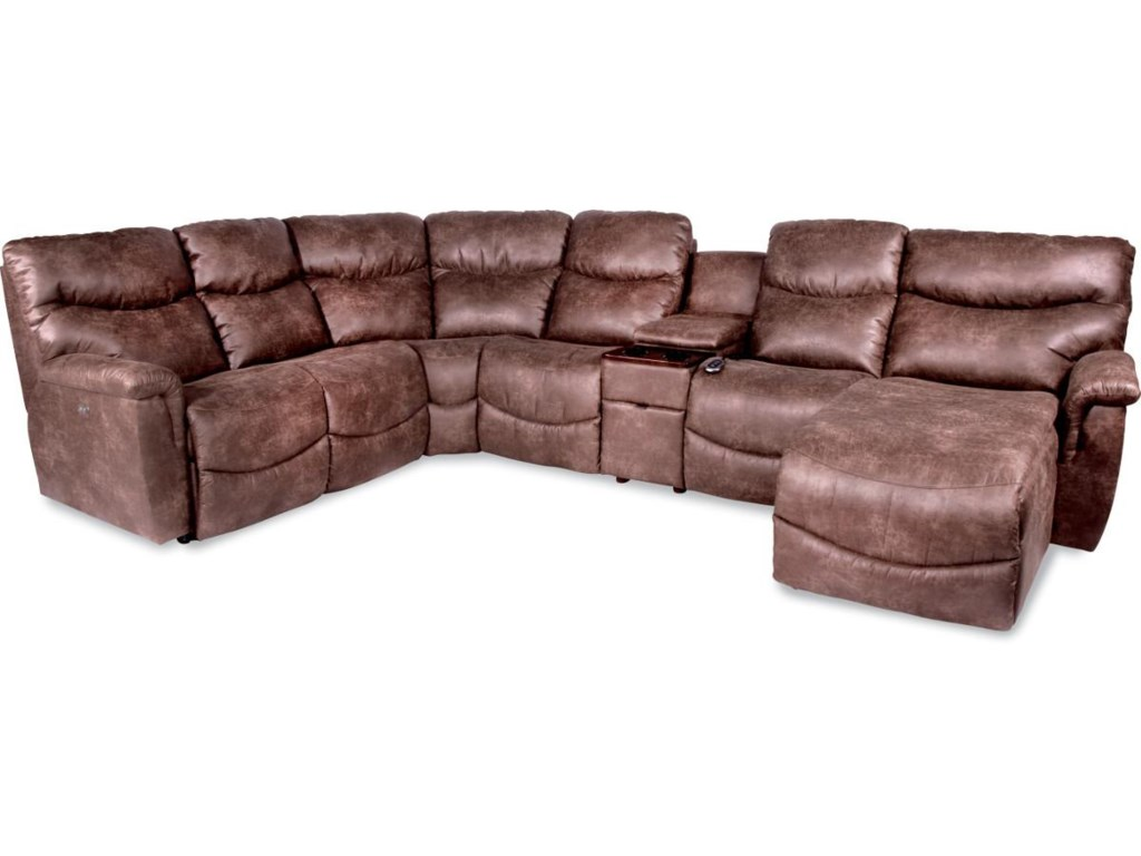 La-Z-Boy James6 Pc Power Reclining Sectional w/ LAS Chaise