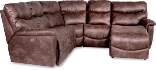 La Z Boy James Four Piece Reclining Sectional Sofa With Las