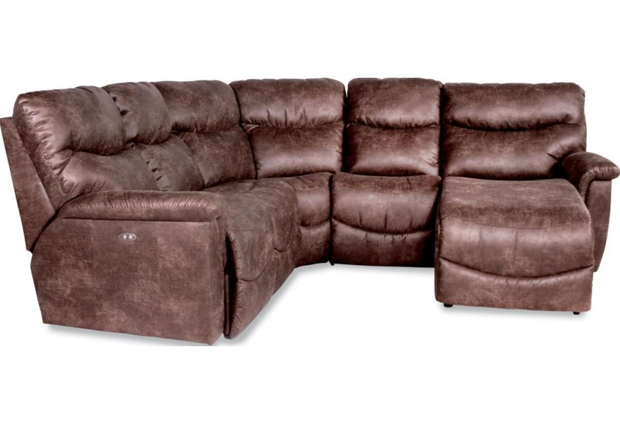 James 4 Pc Pwr Reclining Sectional w/ Pwr Head