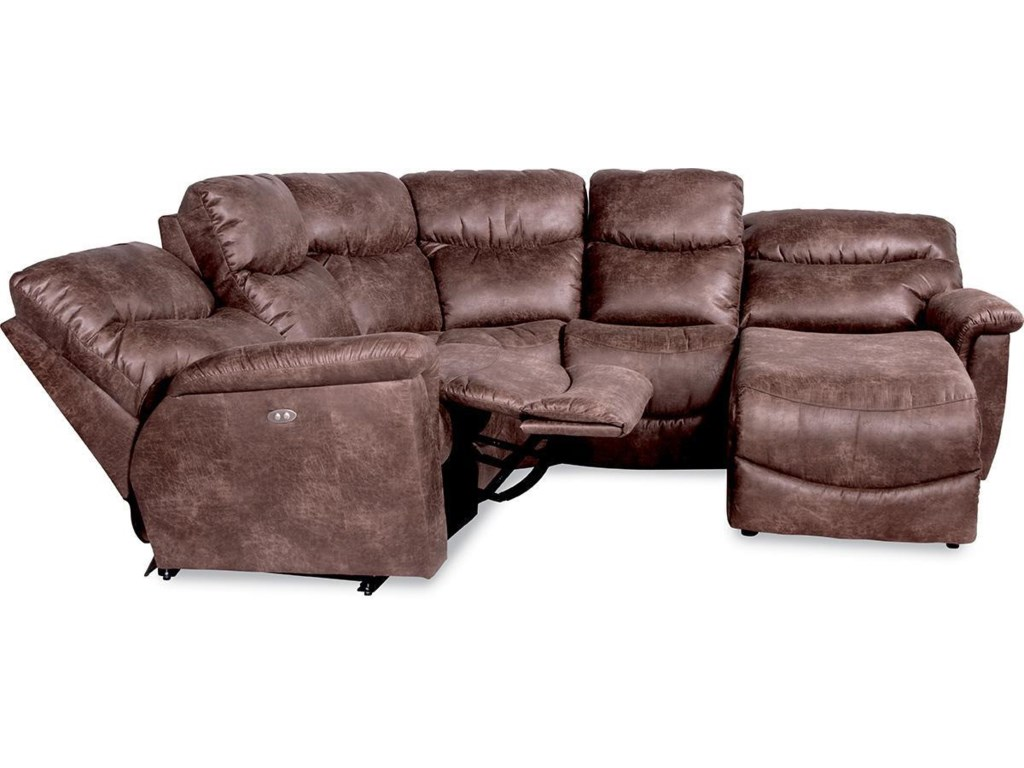 La-Z-Boy James4 Pc Pwr Reclining Sectional w/ Pwr  Head