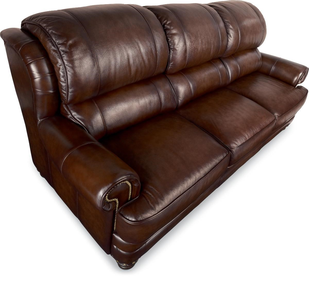 La-Z-Boy JAMISON 710800 Traditional Leather Sofa with Turned Arms and Nail Head Trim  sc 1 st  Great American Home Store & La-Z-Boy JAMISON Traditional Leather Sofa with Turned Arms and ... islam-shia.org