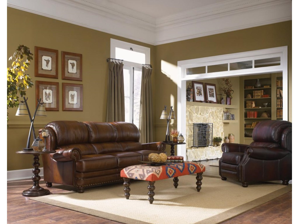 La Z Boy Living Room Set La Z Boy Jamison Traditional High Leg Leather Recliner Morris
