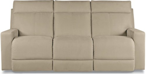 La-Z-Boy Jax Contemporary Power Reclining Sofa with Topstitch Detailing