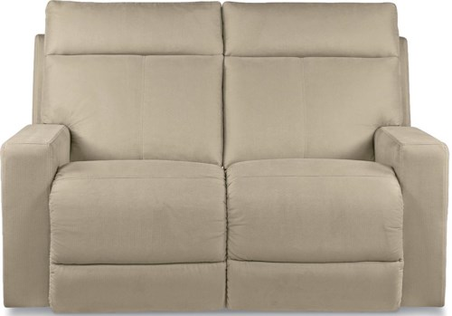 La-Z-Boy Jax Contemporary Power Reclining Loveseat with Topstitch Detailing