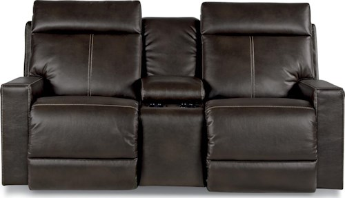La-Z-Boy Jax Full Reclining Loveseat with Console