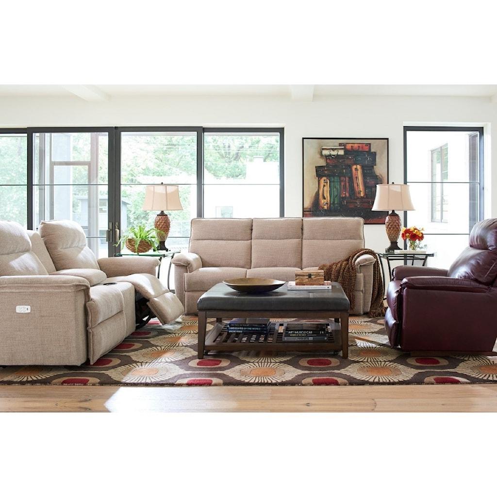 La Z Boy Jay Casual Reclining Sofa Knight Furniture Mattress