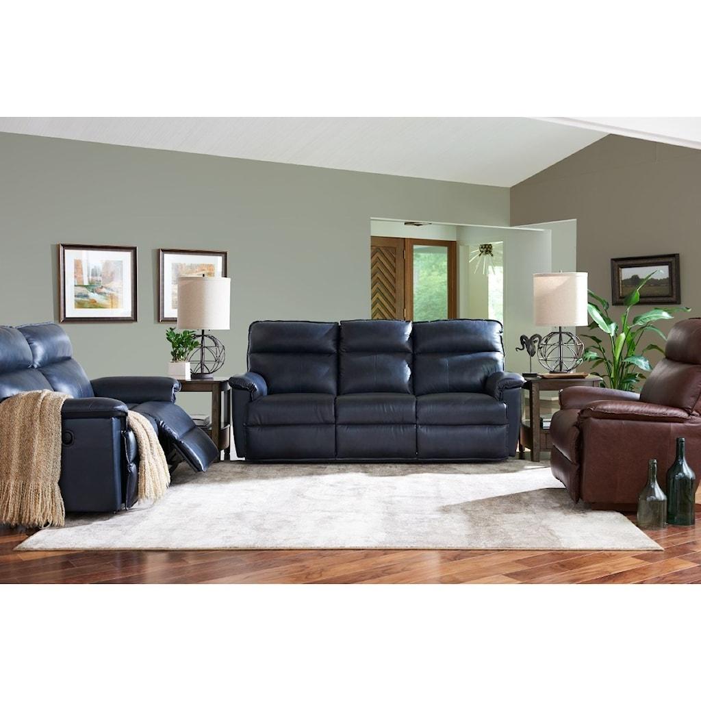 La Z Boy Jay Casual Power Reclining Sofa With Usb Charging Ports