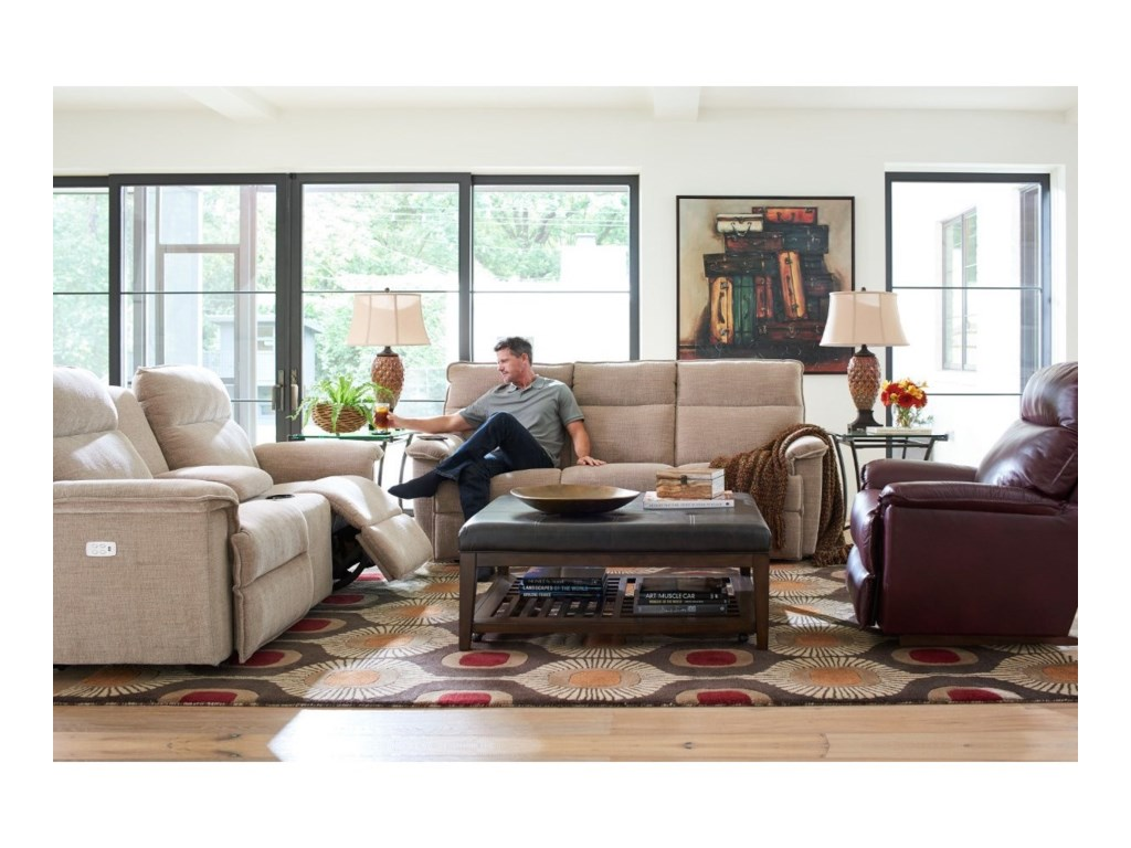 La-Z-Boy JasonPowerRecline Reclining Sofa w/ Pwr Headrests