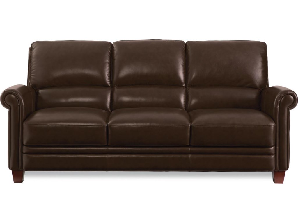 La-Z-Boy JULIUS Leather Sofa with Bustle Back and Rolled Arms ...