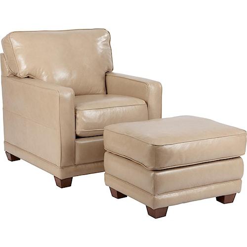 La-Z-Boy Kennedy Transitional Chair and Ottoman Set