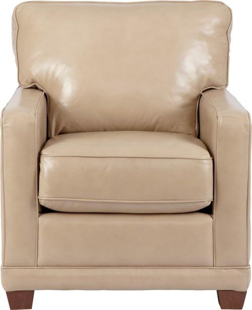La-Z-Boy Kennedy Transitional Stationary Chair with Track Arms and Welt Cord Trim