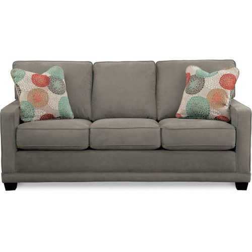 La-Z-Boy Kennedy Transitional Sofa with Wood Legs and Welt Cord