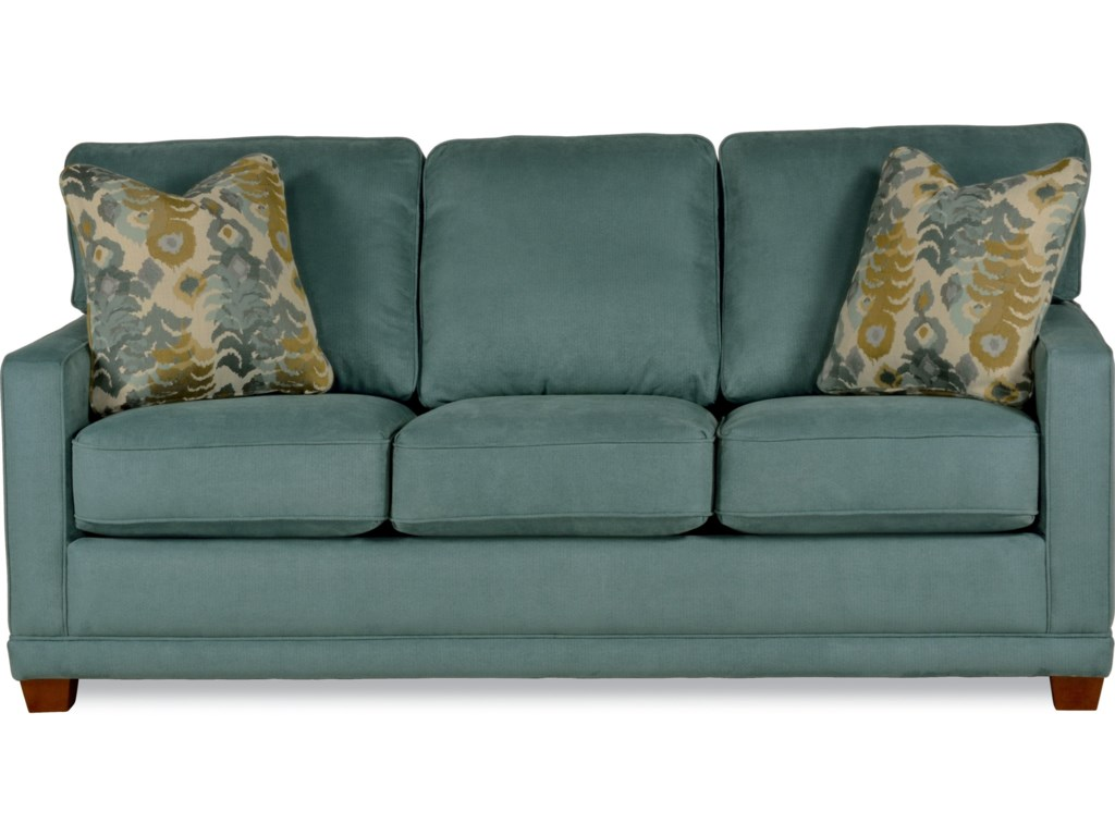 La-Z-Boy Kennedy Transitional Sofa with Wood Legs and Welt Cord ...