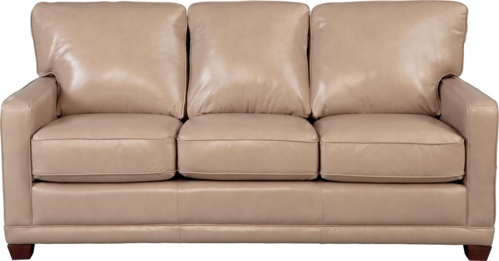 La Z Boy Kennedy 610593 Transitional Sofa With Wood Legs And Welt  ~ What Is A Transitional Sofa