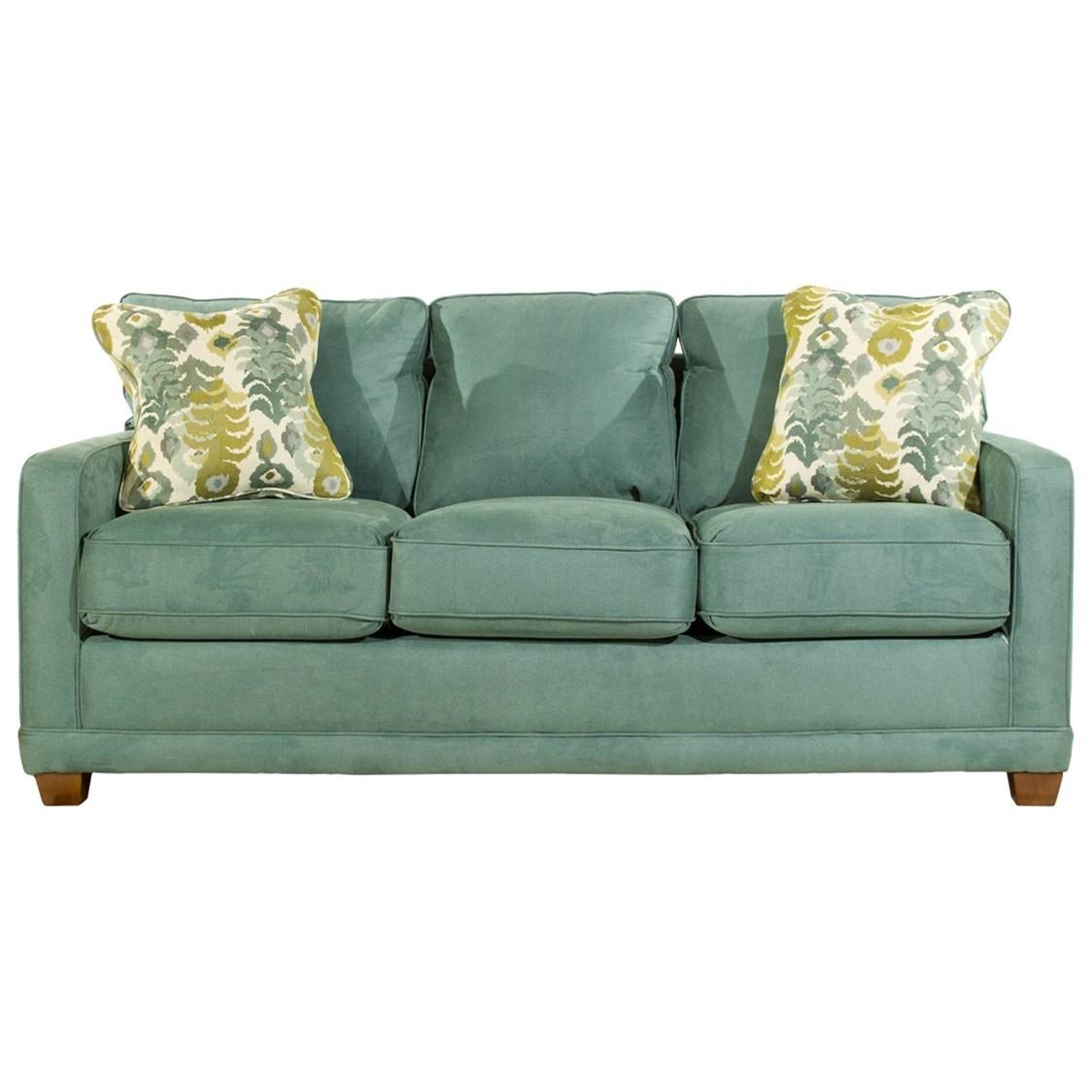 La Z Boy Kennedy Queen Memory Foam Sofabed   HomeWorld Furniture   Sleeper  Sofas