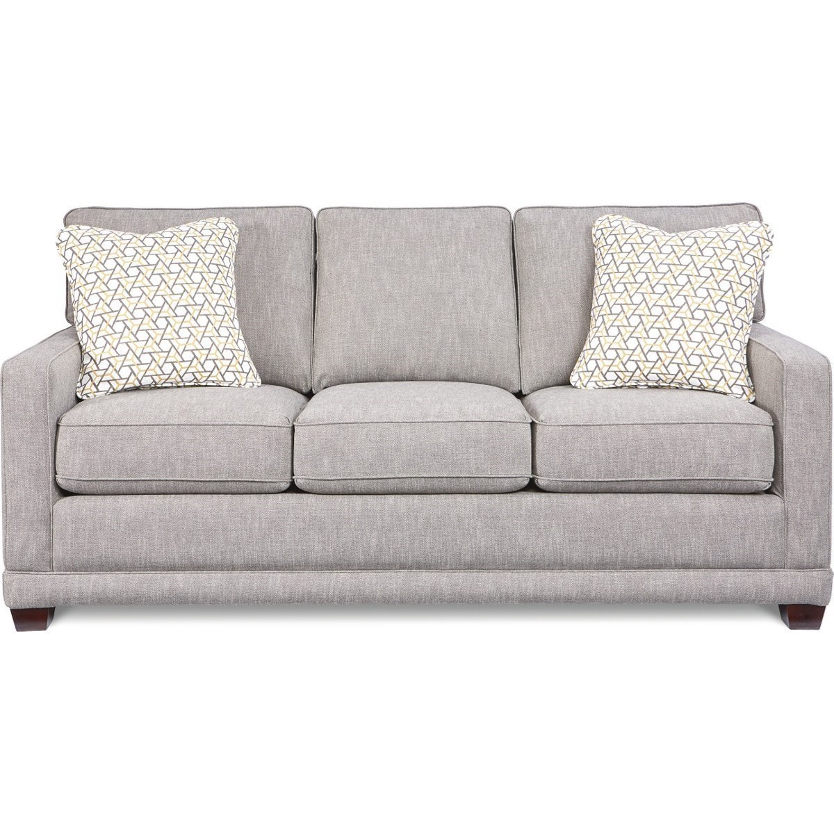 La Z Boy Kennedy Transitional Sofa With Wood Legs And Welt Cord