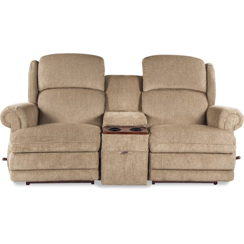 La-Z-Boy Kirkwood Three Power-Recline-XR Reclining Loveseat with Cupholder Storage Console