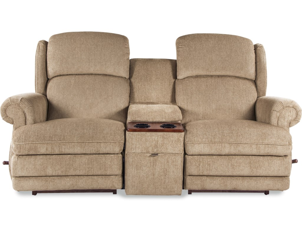 La Z Boy Kirkwood Three Piece Reclining Loveseat With Cupholder
