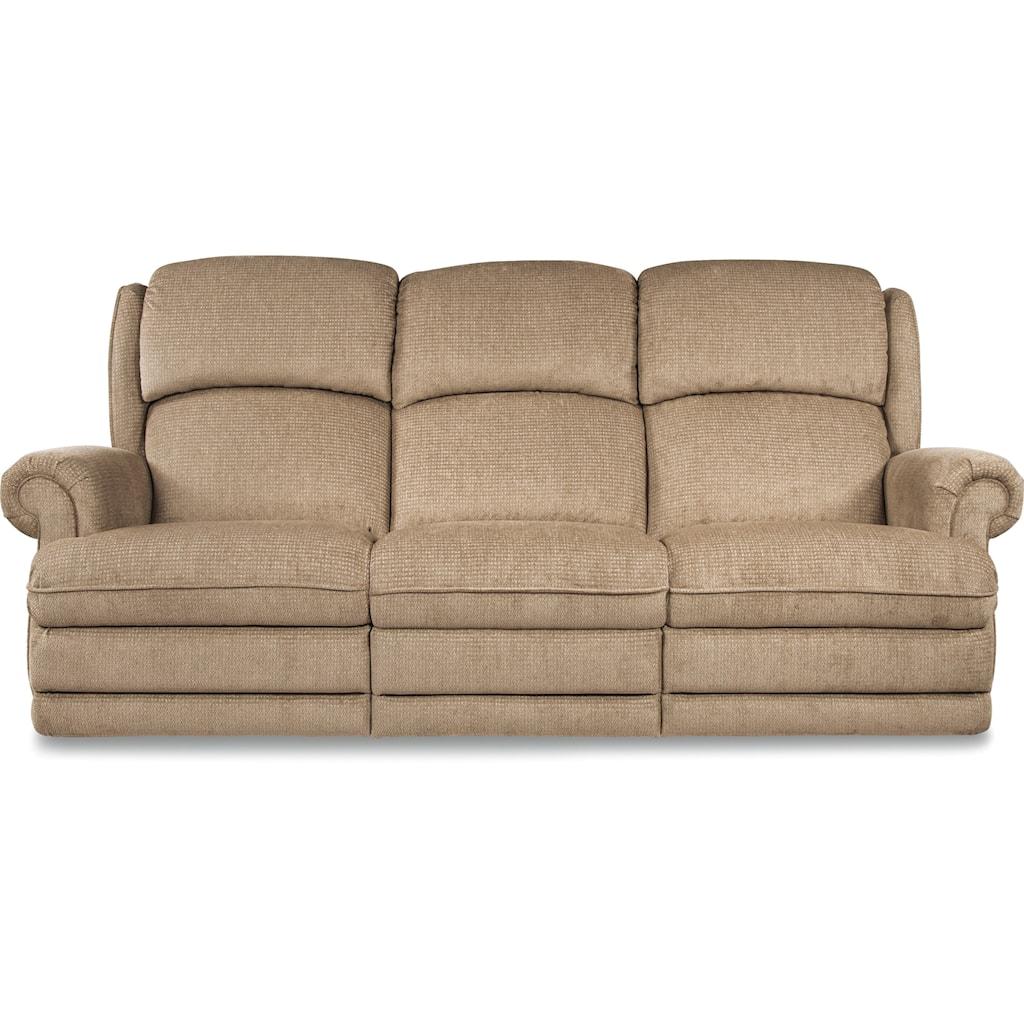 La Z Boy Kirkwood Traditional Space Saver Reclining Sofa Morris  ~ Traditional Reclining Sofa