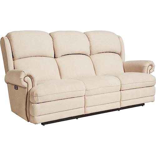 La-Z-Boy Kirkwood Traditional Power-Recline-XRw™ Space Saver Reclining Sofa