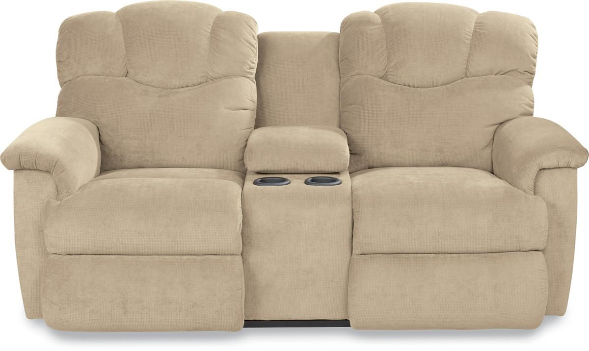 Reclining Loveseat with Console and Cup Holders