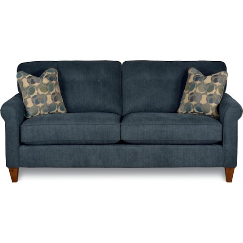 La Z Boy Laurel Stationary On Tufted Sofa