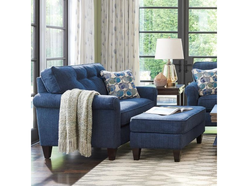 La Z Boy Laurel Oversized Chair And Ottoman Set Conlin S