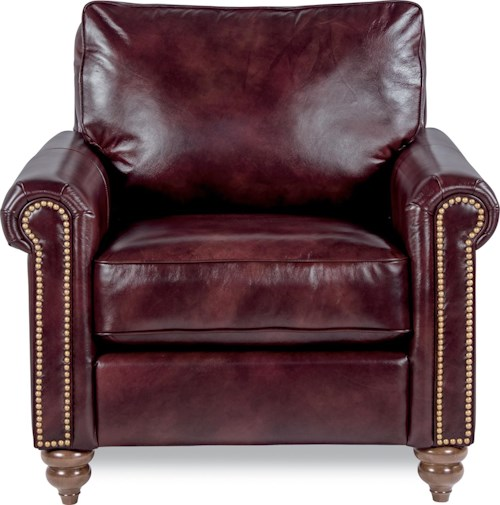 La-Z-Boy LEIGHTON Traditional Rolled Arm Loveseat with Premier Comfort Core Cushions