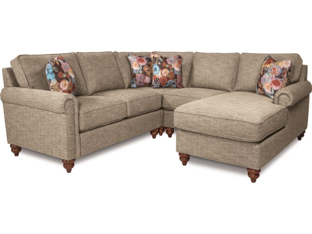 La Z Boy LEIGHTON Traditional Four Piece Sectional Sofa With Left