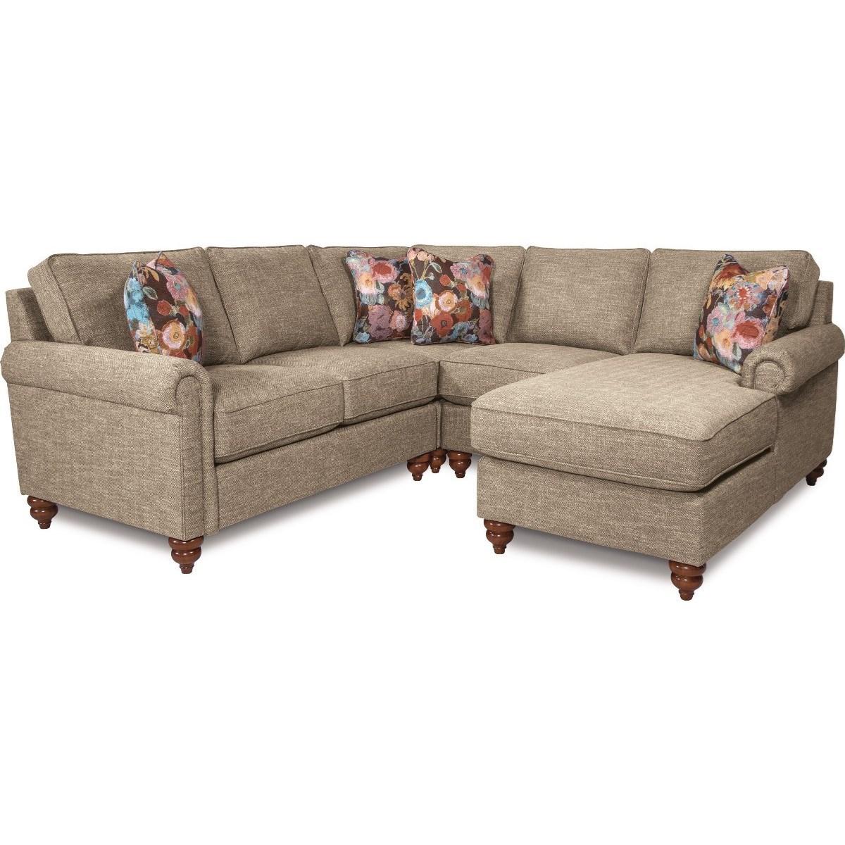 La Z Boy LEIGHTON4 Pc Sectional Sofa W/ LAS Chaise ...