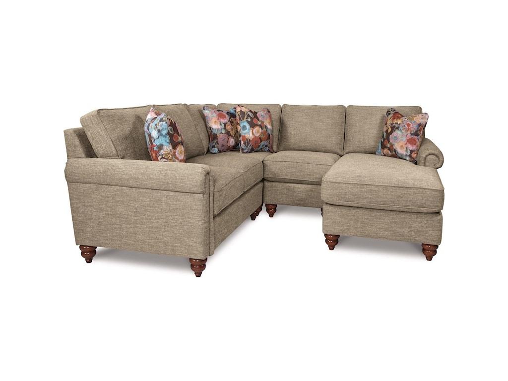 La-Z-Boy LEIGHTON4 Pc Sectional Sofa w/ LAS Chaise