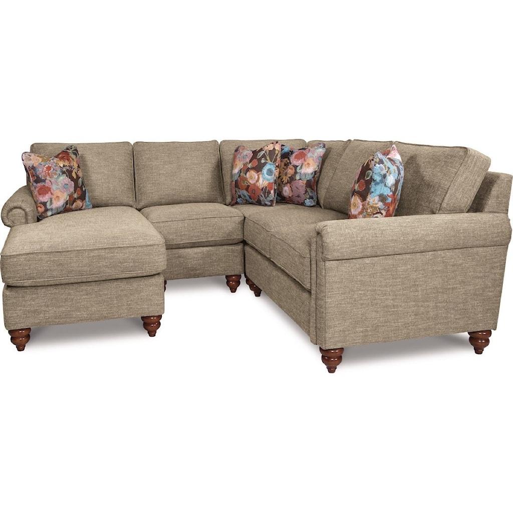 La z boy rochelle4 pc sectional sofa w ras chaise