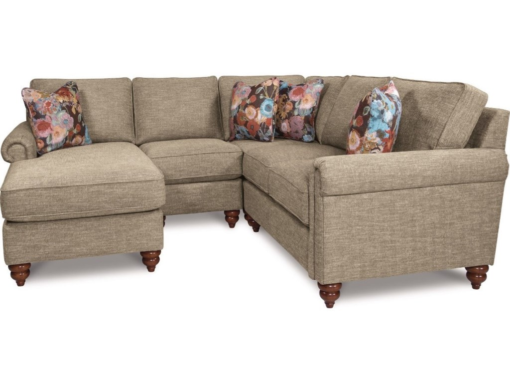 La-Z-Boy LEIGHTON4 Pc Sectional Sofa w/ RAS Chaise