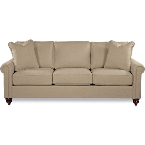 La-Z-Boy LEIGHTON Traditional Rolled Arm Sofa with Premier Comfort Core Cushions