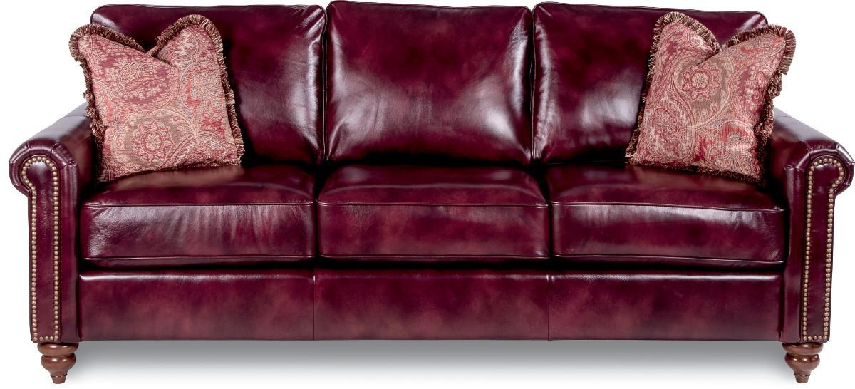 Picture of: La Z Boy Leighton Traditional Rolled Arm Sofa With Premier Comfort Core Cushions Godby Home Furnishings Sofas