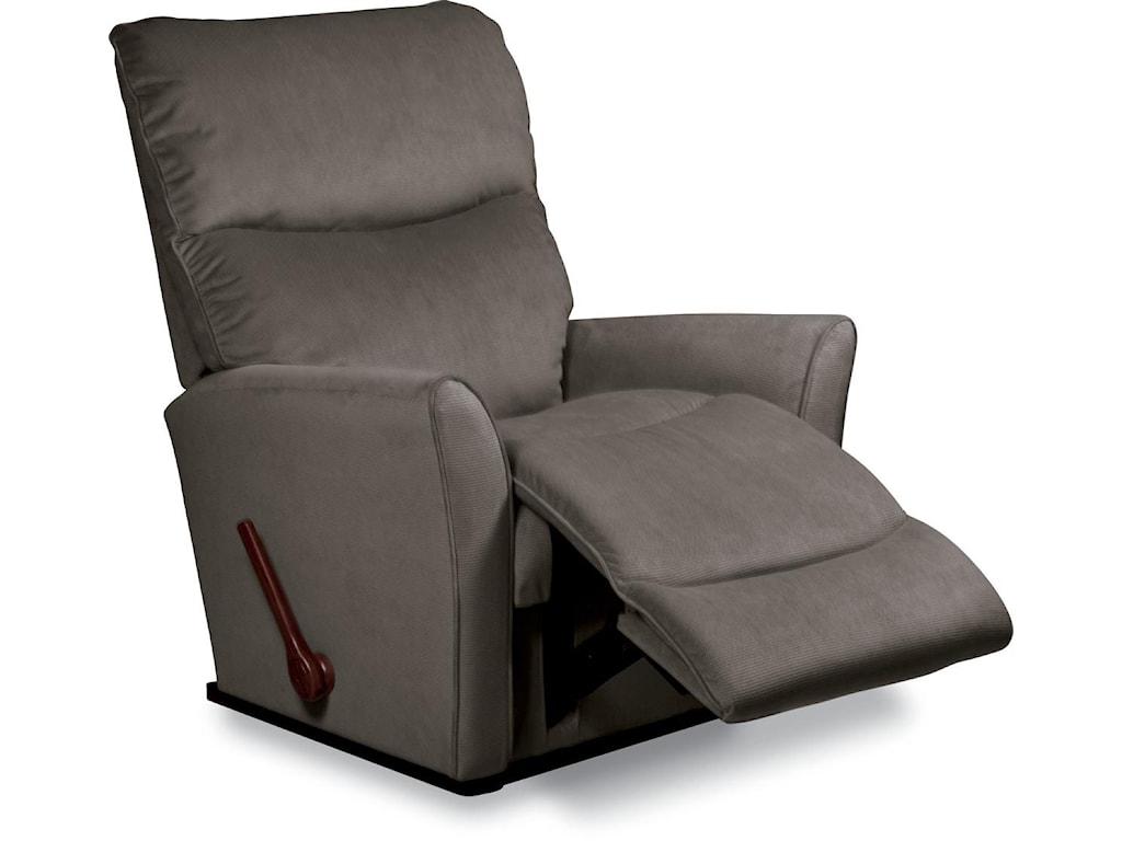 lazboy fabric rowan small scale reclinarocker® recliner with  - lazboy fabric  rowan small scale reclinarocker® recliner withflared arms