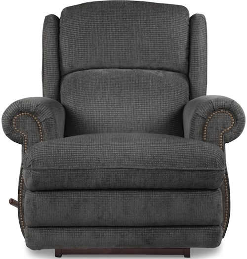 La-Z-Boy Recliners Kirkwood RECLINA-GLIDER® Swivel Recliner with Nailhead Studs