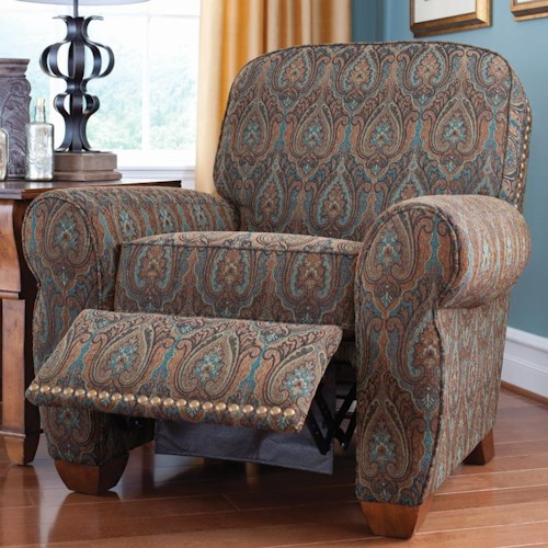 La-Z-Boy Recliners Emerson High Leg Recliner with Nailhead Trim