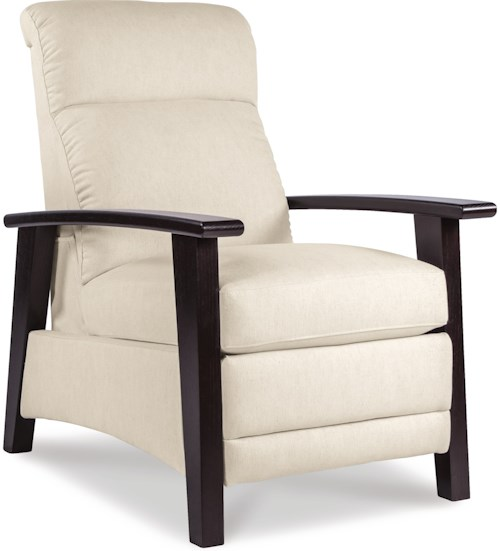 La-Z-Boy Recliners Nouveau Modern Recliner with Wood Arms and Power Motion